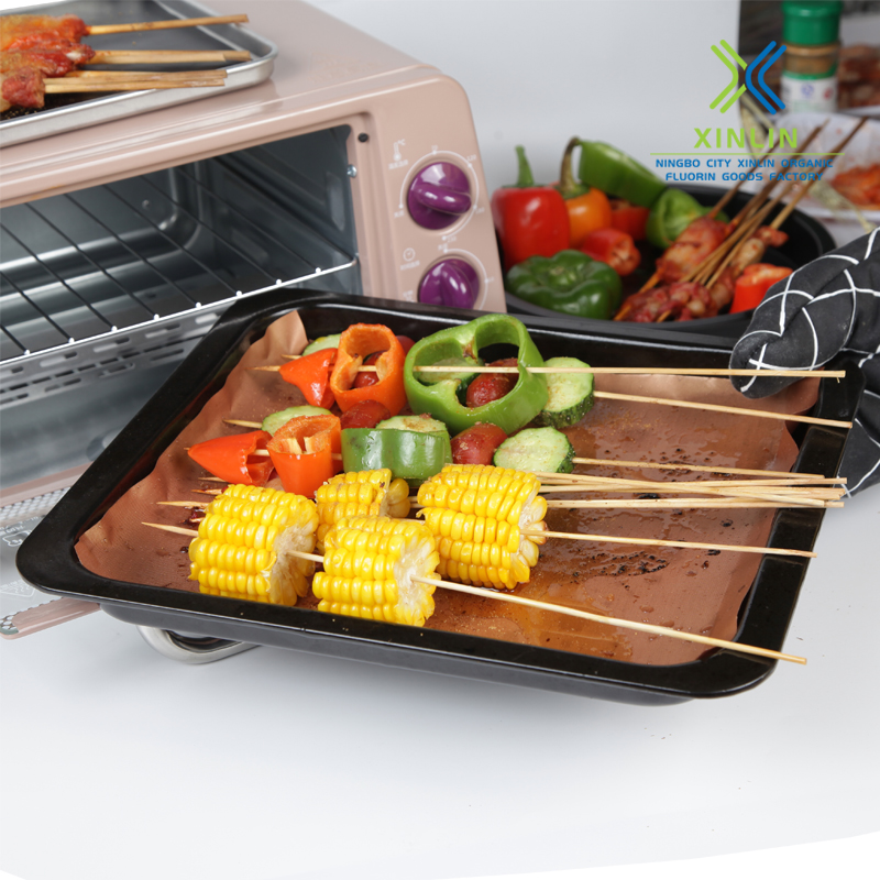 Ptfe Coated Non-stick Copper Grill Chef Mat
