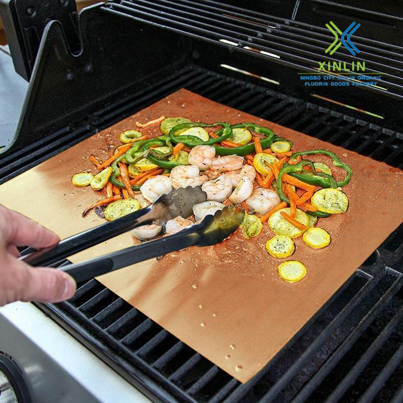 Brown Nonstick Bbq Grill Mat Bake