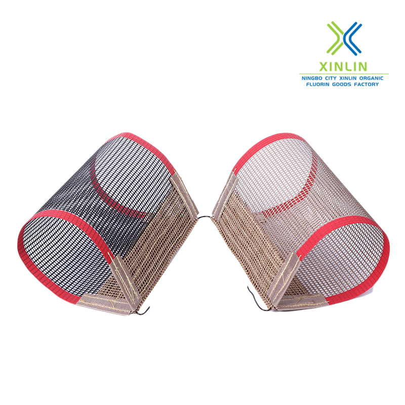 Heat treatment furnace conveyor mesh belt